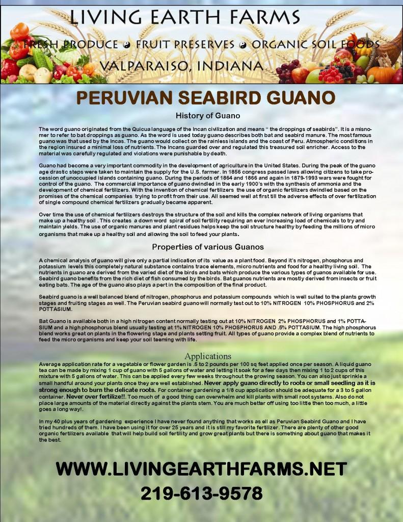 PERUVIAN SEABIRD GUANO 791x1024 Organic Soil Foods